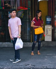 Something interesting going on? (Beegee49) Tags: street people waiting watching standing man woman filipina looking sony a6000 bacolod city philippines asia
