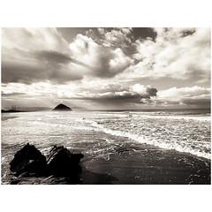 (tahitihut) Tags: california stormclouds seascape blackandwhite morrorock morrobay
