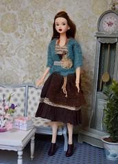 Miss Charli (Girl Least Likely To) Tags: momoko sekiguchi asianfashiondolls dress sweater knitwear dolls auburn livingroom diorama dollhouse dollscene dollroom miniatures smallworlds toys
