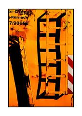 the shadow ladder (Armin Fuchs) Tags: arminfuchs lavillelaplusdangereuse orange red ladder shadows diagonal container niftyfifty
