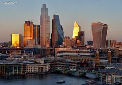 CityDusk (Nigel Blake, 18.5 MILLION views! Many thanks!) Tags: london walkietalkie herontower gherkin scalpel skyscraper highrise towerblock office nigelblakephotography nigelblake city cityscape urbanlandscape