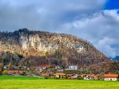 Mountain in Oberaudorf, Bavaria, Germany (UweBKK (α 77 on )) Tags: bayern bavaria germany deutschland europe europa iphone mountain oberaudorf cloud sky green grass field meadow landscape landschaft view scene scenery scenic autumn autumnal fall herbst outdoors