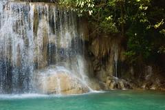 Erawan waterfall in Kanchanaburi, Thailand (UweBKK (α 77 on )) Tags: kanchanaburi province thailand southeast asia sony alpha 77 slt dslr erawan waterfall nature reserve park water flow tree forest jungle stone rock outdoors