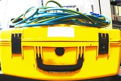 Case face -[ HSS ]- (Carbon Arc) Tags: sliderssunday pareidolia face case box carry extenison cord lead