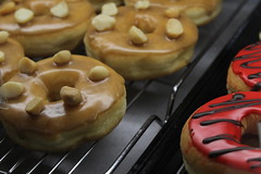 Cheesecake Donut (ethangutterman02) Tags: donut food baked yum camera canon t6 follow fav comment wow glaze koreatown cheesecake caramel