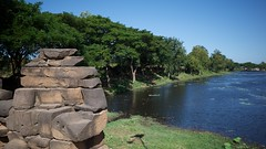View of the moat from a causeway to Banteay Chhmar (yhila) Tags: archaeology banteaymeanchey cambodia