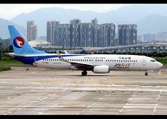B737-8LW/WL   Hebei Airlines   B-1366   XMN (Christian Junker   Photography) Tags: nikon nikkor d800 d800e dslr 70200mm aero plane aircraft boeing 7378lwwl 737800wl 737800 737 73h b738 hebeiairlines hebeiair ns hbh ns324r hbh324r hebeiair324r b1366 narrowbody winglet departure taxiing airline airport aviation planespotting 42977 6752 429776752 xiameninternationalairport gaoqi zsam xmn xiamen fujian china asia terminal4 t4 viewingplatform christianjunker flickraward flickrtravelaward zensational worldtrekker superflickers