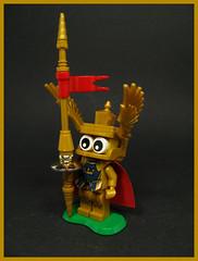 Duke Sattelkopf (Karf Oohlu) Tags: lwgo moc minifig classiccastle medievil baron armour lance joustinglance saddle gold knight