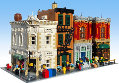 DOWNTOWN NEW YORK (Britishbricks) Tags: lego modular building build custom moc new york wip apartments restaurant
