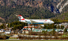 Airport Innsbruck (INN/LOWI) 26.03.2016 (axeljanssen) Tags: austrianairlines fokker f70 oelfh flugzeuge inn lowi