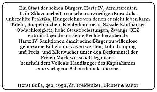 (Q) Geheuchelte verlogene Scheindemokratie. Staat und Regierung als Handlanger des Kapitalismus. - Horst Bulla