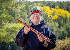 Susan 25/100 (Dan Fleury Photos) Tags: strangers justmet humanfamily hiking music naturallight portrait environment