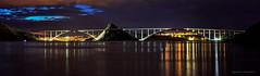 Krčki most iz Uvale Voz (MountMan Photo) Tags: krckimost otokkrk pozalasku primorskogoranska croatia landscape noć night nightscape voda water most bridge flickrunitedaward