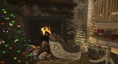 How many days 'til Christmas? (Miru in SL) Tags: secondlife sl mesh tannenbaum imaginarium event refuge the green door decor furniture home garden christmas rustic tree sleigh xmas holiday