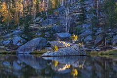 Autumn in South Dakota (dshoning) Tags: southdakota autumn water rocks trees sylvanlake