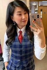 Jihae An (bof352000) Tags: woman tie necktie suit shirt fashion businesswoman elegance class strict femme cravate costume chemise mode affaire