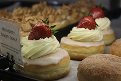 Strawberry Cream Donut (ethangutterman02) Tags: donut food baked yum camera canon t6 follow fav comment wow glaze koreatown strawberry cream fresh fruit yummy amazing