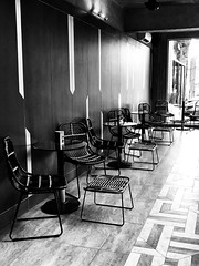 Sunday chill time (The Elephant's Tales Photography) Tags: blackandwhite bw chairs lounge vibes chill iphoneonly interiordesign