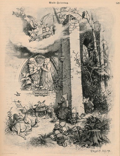 Fliegende Blätter 1894  Wald  feiertag