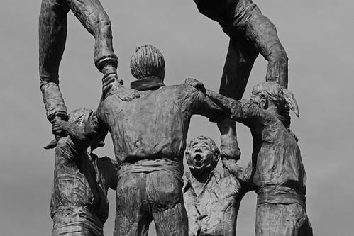 Monument als castellers - Tarragona, Catalonia, Spain - Oct 2019