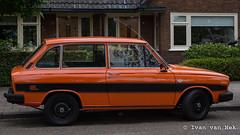 Volvo 66 GL (Ivan van Nek) Tags: volvo66gl daf daf66 dollardstraat amersfoort utrecht nederland thenetherlands paysbas car auto bil voiture pkw wagen orange oranje nikon nikond7200 sigma1770 13