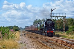 What's in a name? (Yorkie Jonathan) Tags: uksteam southernrailway bulleid pacific 8p merchantnavyclass 35018 britishindialine bil scarboroughspaexpress sse weaverthorpe scarborough york semaphoresignal