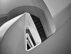 Triangle Staircase bw (kuestenkind) Tags: treppenhaus staircase schwarzweis blackandwhite bnw bw triangle dreieckig northgermany hamburg norddeutschland architektur architecture