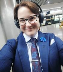 Adelina (bof352000) Tags: woman tie necktie suit shirt fashion businesswoman elegance class strict femme cravate costume chemise mode affaire