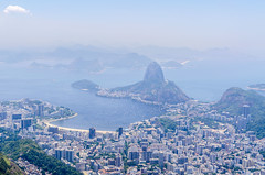 Rio de Janeiro as seen from Corcovado mountain (My Wave Pics) Tags: brazil city travel sea rio landscape urban water landmark america south ocean tourism mountain janeiro cityscape scenic sugarloaf view aerial brasil corcovado bay famous beach downtown riodejaneiro coast brazilian skyline