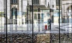 P10 (roberke) Tags: window raam venster reflectie reflection selfie zelfportret stones stenen bikes fietsen wittenberg germany duitsland kleuren colors