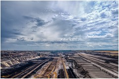 EXPLOITED EARTH (NorbertPeter) Tags: grevenbroich sky mining coal nature landscape fujifilm xt2 hole browncoal opencastmining rwe powergeneration germany garzweiler industry outdoor clouds
