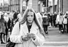 Princes Street, Edinburgh (Cycling-Road-Hog) Tags: candid canoneos750d citylife edinburgh edinburghstreetphotography fashion hairstyle headphones phone places princesstreet scotland street streetphotography style