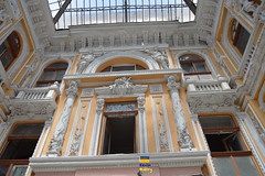 Odessa Passage (Кевін Бієтри) Tags: very nice architecture odessa ukraine odesa ukraina building window facade marble old holyplaces travel classicalarchitecture oven sitting skylight archaeology column vaultceiling stove nikon nikond3200 kevinbietry kevinbiétry spotterbietry