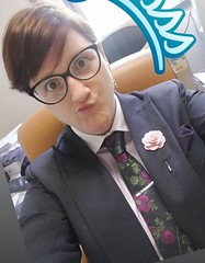 Adelina (bof352000) Tags: woman tie suit necktie fashion shirt costume femme class mode elegance cravate strict chemise businesswoman affaire