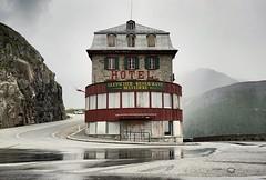 Hotel Belvedere (-libellenwellen-) Tags: belvedere furkapassschweiz alpen alps pass passtrasse schweiz  europa berge mountain travel reisen sony a7 zeiss 1635 f4 swiss landwirtschaft landscape