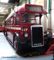 Ramsbottom 17 Manchester Museum of Transport (TonyW1960) Tags: manchester museumoftransport ramsbotton 17 htb656 leylandtiger leylandps1 roe