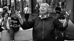 faith (gro57074@bigpond.net.au) Tags: singer courage cbd georgestreet sydney december2019 guyclift f80 2470mmf28 tamron d850 nikon monochromatic monotone mono bw blackwhite faith woman streetphotography 'cosyougottahavefaith