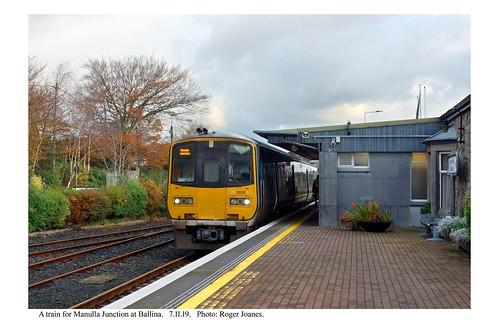 Ballina. Train for Manulla Junction. 7.11.19