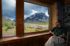 Cabin Getaway (Ma.Ha.) Tags: mountain mountains norway trekking outdoors norge cabin outdoor hiking getaway window nature sky clouds cloudy raining scene tranquil remote life outdoorlife tranquilscene nikon 1835mm d600 21mm