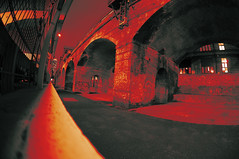 Red Arches (Peter Rea XIII) Tags: art architecture artistsontumblr abstract angle biutifulpics building bridge brick city cameraraw d300s design experimental fisheye gradient imiging alley lensblr lightisphotography luxlit manchester nikon originalphotographers originalphotography photographersontumblr peterreaphotography photography pws p58 red submission streetphotography street telescopical train arches urban urbex rail xonicamagazine ycphotographs night dark wideangle wide