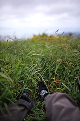 Ankle (Fionnbharr Sherry) Tags: 35mm sigma35mmart foot shie shoe anckle ankle grass brooklyn wellington