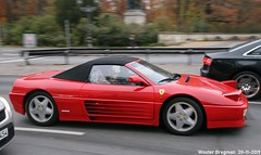 Ferrari 348 Spider (Wouter Bregman) Tags: b062766 ferrari 348 spider ferrari348 v8 red rood rouge cabriolet cabrio convertible roadster tourer groser stern berlin tiergarten berlijn germany deutschland duitsland allemagne герма́ния youngtimer old classic italian supercar super car auto automobile voiture ancienne italienne italie italia italy vehicle outdoor