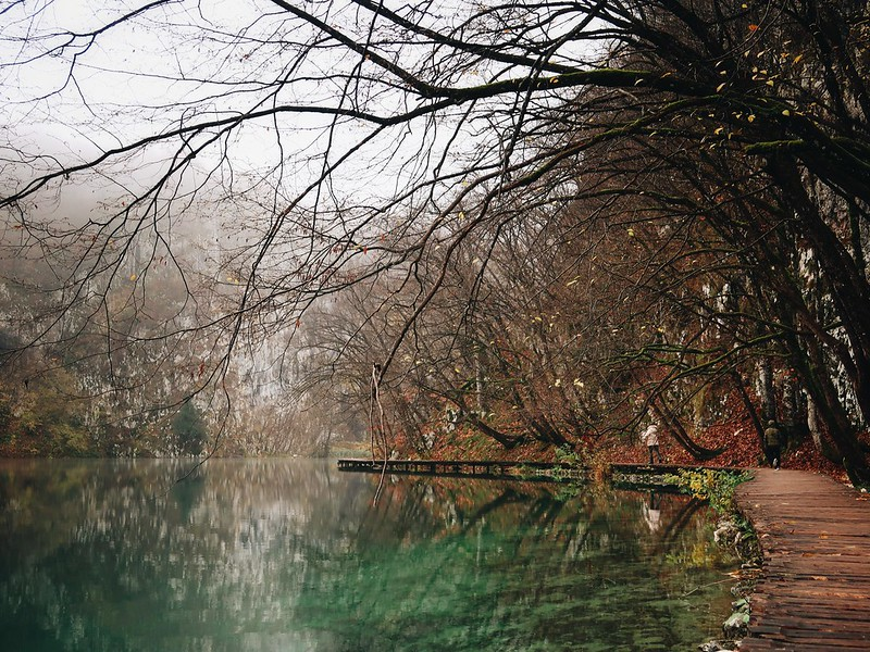 Plitvice National Park, Croatia. Off-season misty fall autumn blog.