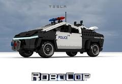 Tesla Cybertruck - Robocop (lego911) Tags: tesla cyber truck cybertruck elon musk 2019 dystopia robocop blackandwhite police cop future scifi auto car moc model miniland lego lego911 ldd render cad povray pickup cyberquad bv battery electric vehicle
