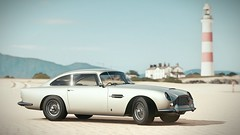 AstonMartin DB4 on the beach (alex_vxxd) Tags: photomode videogame forza screenshot games cars aston martin beach sky