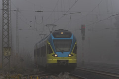 ET 8_07 Muenster Zentrum Nord 20191201 001  dvd0037 (Dirk Buse) Tags: münster zentrum nord eurobahn zug train nebel fog misty wetter sicht dunkel farbe color mft m43 mu43 40150