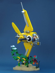 Expedition into the kelp forest (Tino Poutiainen) Tags: lego legomoc legobuild legography marine submarine fish sea water undersea expedition adventure kelp moc minifigure display scifi research model