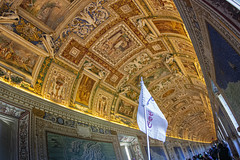 Gallery of Maps (john elvidge) Tags: vatican museum wideangle inside fisheye tourist tapistry carpet aesthetic gold corridor gallery galeria maps history nikon italy italia wealth opulence rome