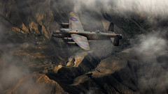 Lancaster (brian_stoddart) Tags: composite aircraft aviation flying flight graceful clouds terrain