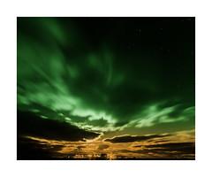 MoonLight - koloriert (Panasonikon) Tags: panasonikon nikond5100 sigma1020 bw wolken clouds licht light sterne stars island iceland nacht night moonlight weitwinkel lzb westfjorde reykhólar koloriert auroraborealis grün green